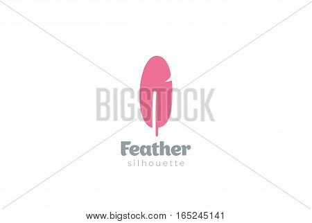 Quill Feather Logo design vector template icon.