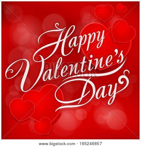 Happy Valentines Day Inscription On Pattern