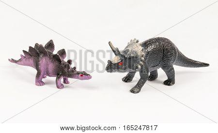 Stegosaurus And Triceratops Dinosaur Toy Models