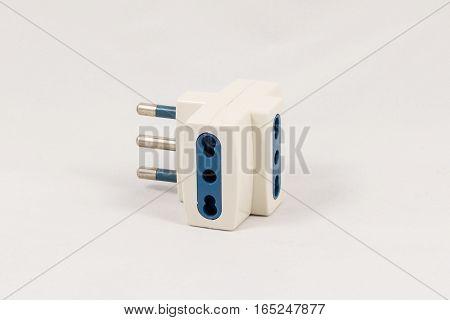 Three Way Eu Electric Plug Adaptor
