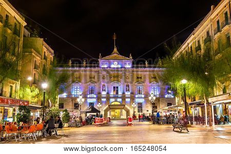 View of the town hall in Tarragona - Spain, Catalonia