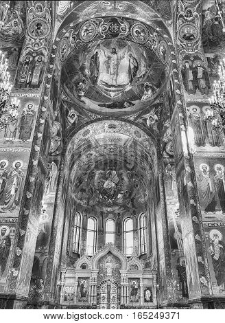 Church Of The Savior On Blood, Interior, St. Petersburg, Russia