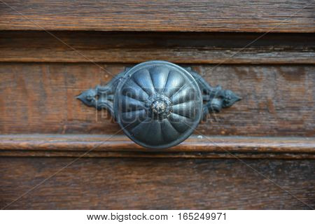 close-up classic door handle, antique handle, decoration,