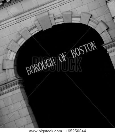 Abstract Creative Borough of Boston Lincolnshire England