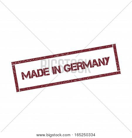 Made In Germany Rectangular Stamp. Textured Red Seal With Text Isolated On White Background, Vector