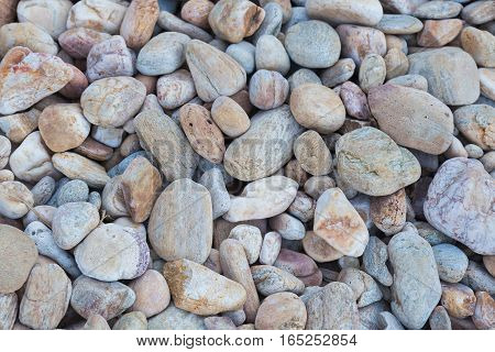 Round sea rock on the beach nautur background