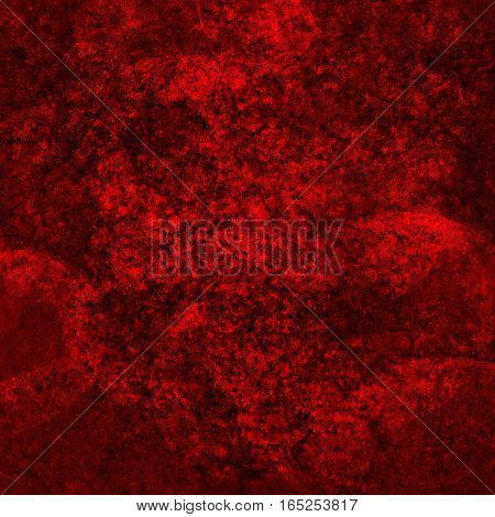 abstract bright colored scratched grunge background - red