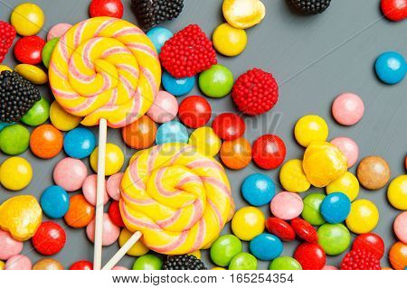 Colorful Candy. Top View