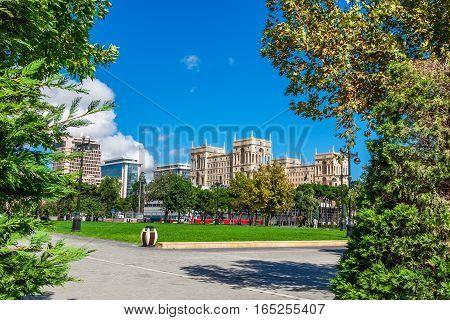 Panoramic View Of Baku - The Capital Of Azerbaijan