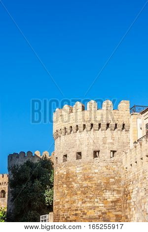 Panoramic View Of Baku Old Town.
