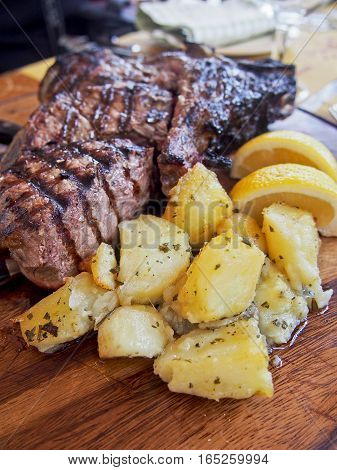 Florentine steak is a popular Tuscan meal made from the t-bone of a specific breed of cattle.