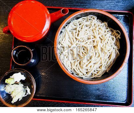 Soba noodles are a type of Japanese noodle made from buckwheat. The Nagano region is famous for this type of noodle, which is often served cold.