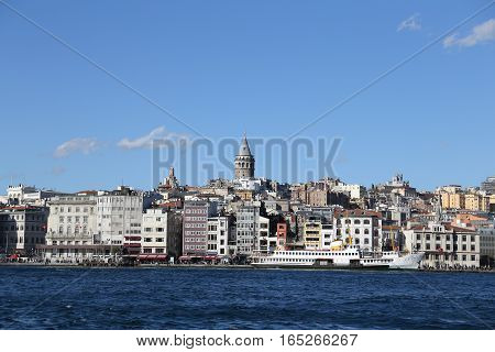 Karakoy And Galata Tower In Istanbul City
