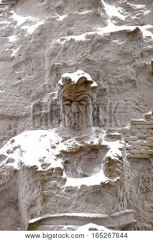 Defenders of Stalingrad a fragment of a bas-relief of