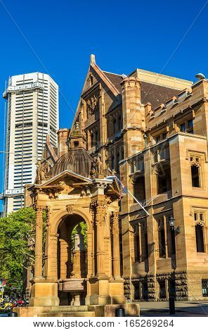 Land Titles Office, a sandstone Neo-Gothic building in Sydney, Australia