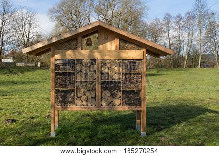 house for insects in the city park of chwandorf in bavaria
