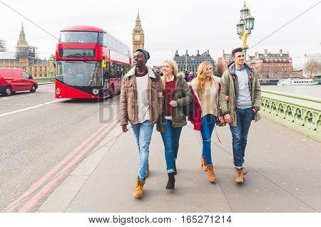 Group Of Friends Having Fun In London