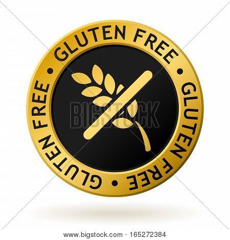 Vector Gluten Free Gold Medal