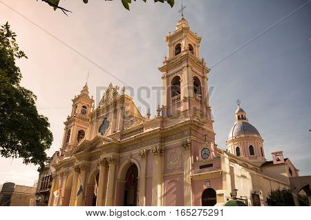 The Cathedral in Salta at sunset (Argentina)