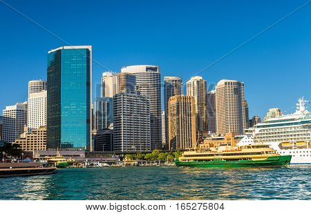 View of Sydney at Circular Quay, Australia