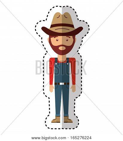 farmer avatar character icon vector illustration design