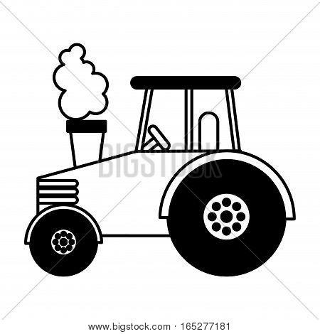 tractor farm vehicle icon vector illustration design