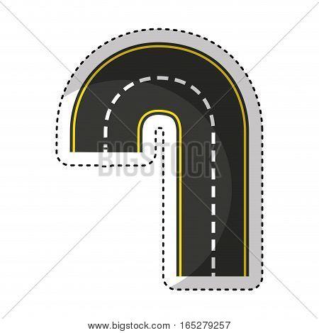 road street isolated icon vector illustration design