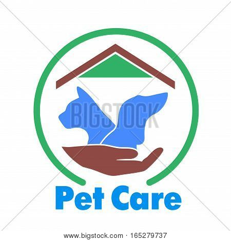 On the image presented Logo care of animals, symbol of protection of vagrant animals.