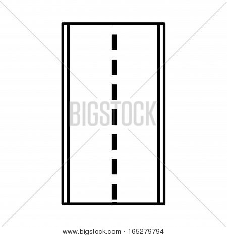 road street isolated icon vector illustration design
