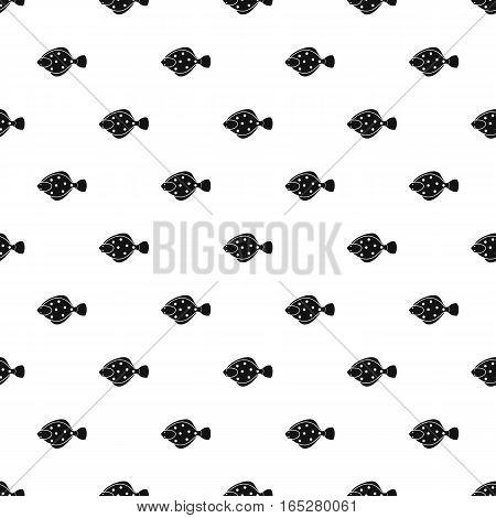 Flounder fish pattern. Simple illustration of flounder fish vector pattern for web design