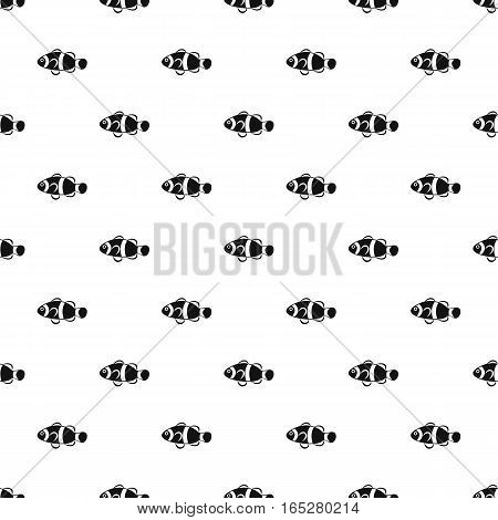 Clown fish pattern. Simple illustration of clown fish vector pattern for web design