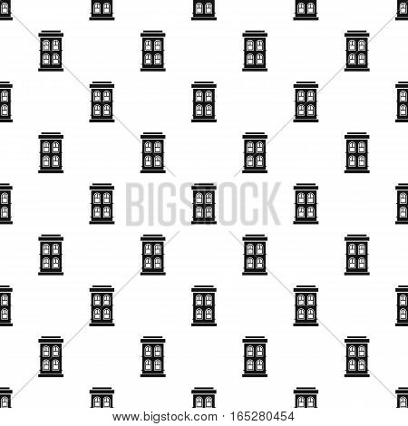 Two-storey house with large windows pattern. Simple illustration of two-storey house with large windows vector pattern for web design