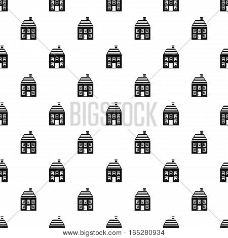 Two-storey house with chimney pattern. Simple illustration of two-storey house with chimney vector pattern for web design