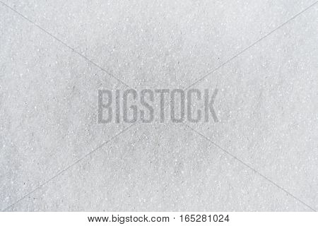 White background of sugar. texture
