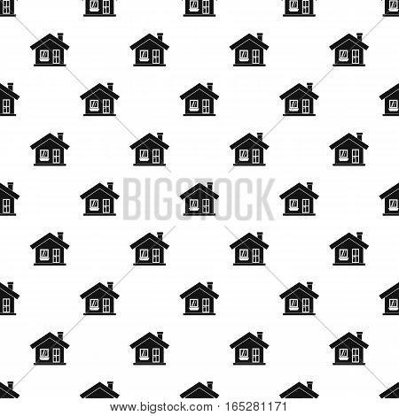 One-storey house with a chimney pattern. Simple illustration of one-storey house with a chimney vector pattern for web design