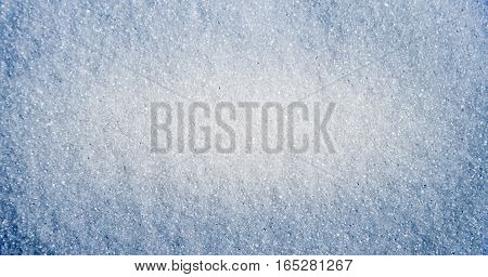 White background of sugar. Crystal light texture