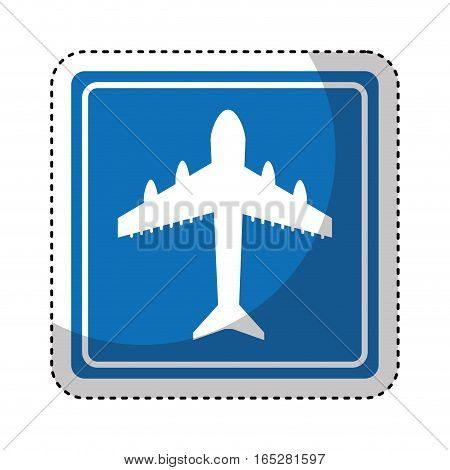airport location traffic signal information icon vector illustration design
