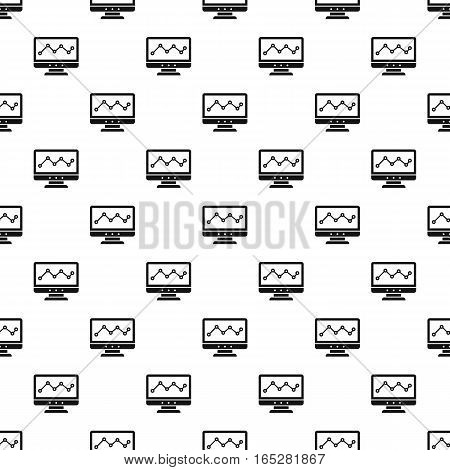 Graph in computer screen pattern. Simple illustration of graph in computer screen vector pattern for web design