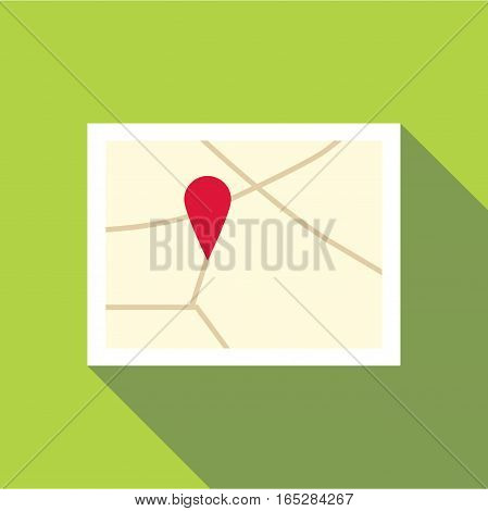 Map icon. Flat illustration of map vector icon for web