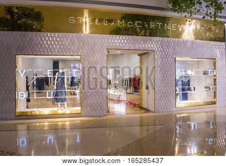LAS VEGAS - NOV 08 : Exterior of a Stella McCartney store in Las Vegas strip on November 08 2016. Stella McCartney is an English fashion designe born in 1971