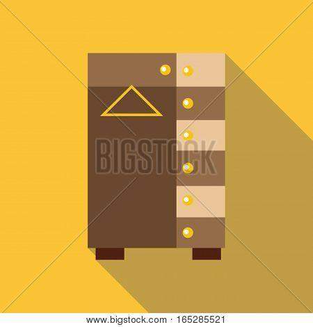 Wardrobe icon. Flat illustration of wardrobe vector icon for web