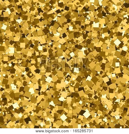 Gold glitter texture . Amber particles color. Celebratory background. Golden explosion of confetti. Vector illustrationeps 10.