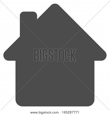 House vector icon. Flat gray symbol. Pictogram is isolated on a white background. Designed for web and software interfaces.