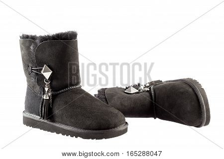 UGG Women's Lilou Sheepskin Boots isolated on white