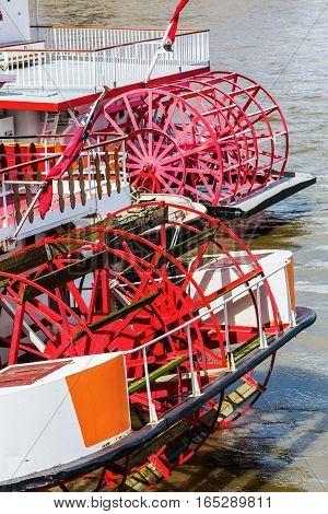 Paddlewheels Of An Old Sternwheeler