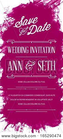 Vector Bright Colorful Watercolor splotch Art Style Invitation for Celebration
