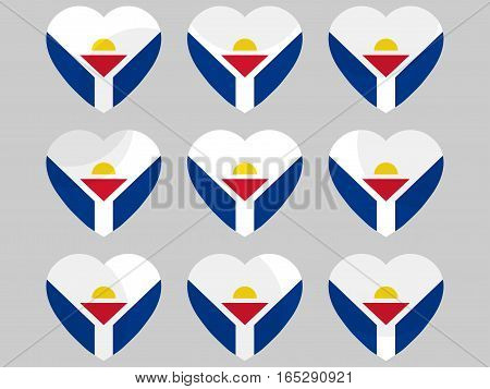 Heart With The Flag Of Sint Maarten. I Love Sint Maarten. Vector Illustration