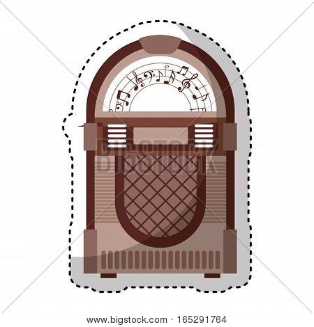 jukebox audio isolated icon vector illustration design