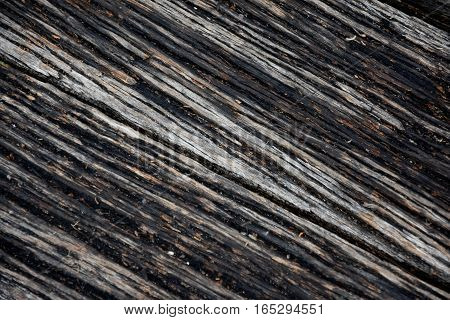 Wood pier abstract texture of a natural gray. View of old weathered deck wooden board. Diagonal wood background texture.