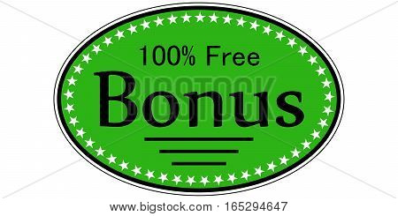 sticker bonus 100 percent free, it's a catchy label for gift and promotion sales, vector template sticker free bonus